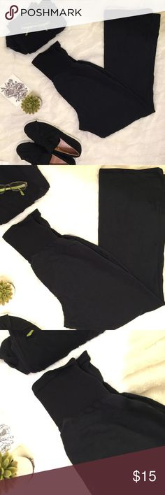 Two pairs! Motherhood maternity yoga pants Two pairs of super comfy wide leg maternity yoga pants with over belly stretch band, perfect post partum well! Excellent condition with slight fade due to washing. All items come from a pet and smoke free studio 👩🏼🎨🎀 Motherhood Maternity Pants Track Pants & Joggers