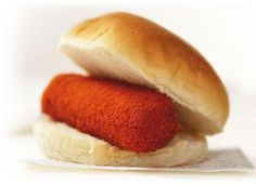 """""""Broodje Kroket"""" , translated """"sandwich Kroket"""", typically Dutch. Don't ask me the ingredients, you don't want to know. But its darn good"""