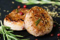 Salmon Burgers, Baked Potato, Shrimp, Grains, Pork, Potatoes, Baking, Ethnic Recipes, Kale Stir Fry