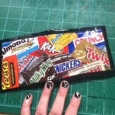 Candy wrapper duct tape wallet!