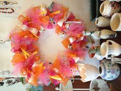 Spring time ribbon wreath