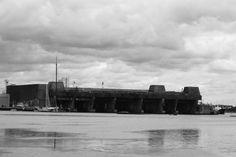 la base de sous-marins construite par les Allemands à Lorient