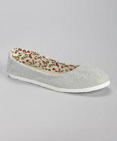 White Glitter Classic Flat #zulily #zulilyfinds