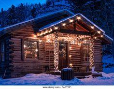 Bearcat's Cabin, Bearcat Stables, Cordillera Resort, Edwards, Colorado. - Stock Image