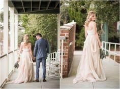 Real Wedding: Kellie and Sean. Gown: Carol Hannah Kensington Skirt and Tank Image: Aislinn Kate Photography