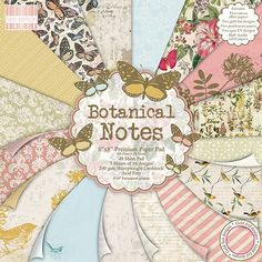 Premium Craft Cardstock First Edition Botanical Notes 8 x 8 Scrapbook Papers ** Continue to the product at the image link.Note:It is affiliate link to Amazon. #jj