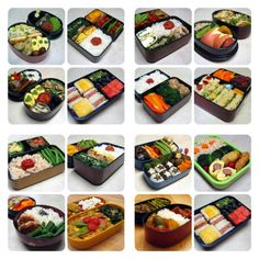 Japanese lunch boxes, hmmm delicious...