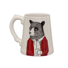 *Affiliate Pin saved from Amara Discover the Jimbobart Mr Bear Stein at Amara Unique Gifts, Best Gifts, Sustainable Gifts, Bear Design, Hand Sketch, New Home Gifts, Gifts For Father, Bone China, Valentine Gifts