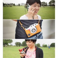 CASE & STRAP for iphone 6 This is an iphone case that allows your phone to look and operate as an old phone. The view finder works so you can take photos more easily in any light.