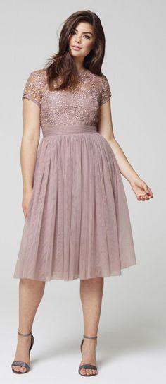 Plus Size Mesh Skater Dress big size fashion http://amzn.to/2kRZpiY