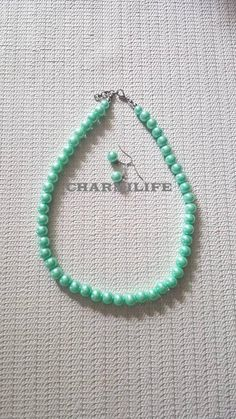 Mint necklace pearl necklace aqua green beaded necklaces for women simple necklace green necklace wedding Jewelry gifts for women chunky Mint Necklace, Simple Necklace, Turquoise Necklace, Pearl Necklace, Beaded Necklaces, Tassel Earrings, Statement Earrings, Mint Jewelry, Summer Jewelry