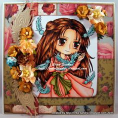 Crea-Sandra Color Card, Hand Coloring, Paper Crafts, Princess Zelda, Projects, Cards, Handmade, Fictional Characters, Log Projects