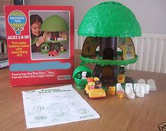 Kenner Family Treehouse ~ This was probably more from the late 70's. There was an elevator in the tree trunk! The tree top pressed down & you stored the parts inside.
