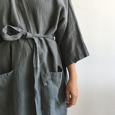 Your lazy Sunday could look like this!  Our washed linen kimono robes are absolutely divine. From the French design group that produces our favorite linen bedding and aprons the robe is another item for daily life improvement. Find this babe in store for now online soon. Can we ship yes!  Questions just ask! by nannie_inez