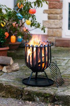 feuerkorb terassenfeuer garten holz ofen kamin feuerschale, Hause und Garten