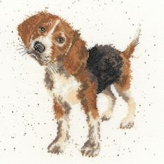Bothy Threads Beagle Counted Cross Stitch - Cross Stitch Kits - Crafts, Die Cutting, Cross Stitch Kits, Embossing Folders, Stamps, Jigsaw Puzzles and more!