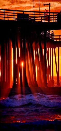 Pier Sunset, Pismo Beach, California by Rob Bishop