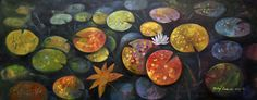 Obecnie na aukcjach Andrzej Gudanski - Water lilies Water Lilies, Auction, Lily, Canvas, Painting, Art, Tela, Art Background, Painting Art