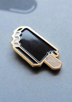 Black Popsicle Enamel Pin