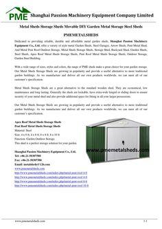 Metal sheds storage sheds movable diy garden metal storage steel sheds pmemetalsheds