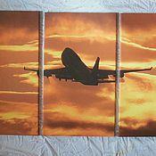 Картины и панно ручной работы. Ярмарка Мастеров - ручная работа Самолет. Handmade.