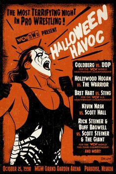 Wcw World Heavyweight Championship, Buff Bagwell, Halloween Havoc, Scott Hall, Wrestling Posters, Kevin Nash, Mgm Grand Garden Arena, Wwe Wallpapers, Wrestling Superstars