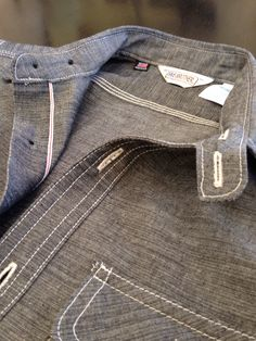 fivebrother black selvedge chambray fine hardgoods hickorees
