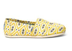 Yellow Jonathan Adler Women's Classics | TOMS.com #toms