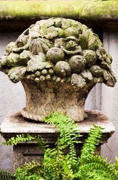 Beautiful Antique Stone Flower Basket, Adriano Bacchella