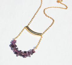 Yoga Jewelry Namaste Reiki Amethyst Bar Pendant Healing Gemstone by CorinnaMaggyDesigns, $24.00