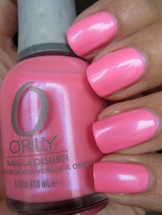 Orly Choreographed Chaos (retails for $8.50, bubblegum pink with blue and purple shimmer), brand new, $4