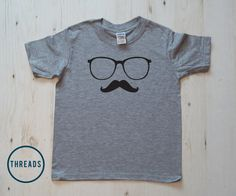 geek glasses and moustache kids tshirt t shirt by threadstees
