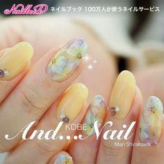 Spring Nails, Summer Nails, Cherry Blossom Nails, Nail Art Design Gallery, Yellow Nails, Toe Nail Designs, Stylish Nails, Flower Nails, Nail Arts