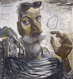 Art Factory, 2016 by John Byrne (Scottish John Byrne, Art Society, Art For Art Sake, Surreal Art, Fine Art Gallery, Figure Painting, Amazing Art, Modern Art, Opera