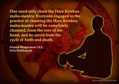 Effect of Chanting  For full quote go to: http://quotes.iskcondesiretree.com/srila-prabhupada-on-effect-of-chanting/  Subscribe to Hare Krishna Quotes: http://harekrishnaquotes.com/subscribe/  #Birth, #Chanting, #Death, #HolyName, #SrimadBhagavatam