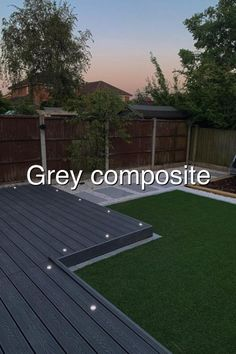 Grey composite decking#676 Astro Turf Garden, Hydraulic Cars, Composite Decking, Composition, Grey, Outdoor Decor, Gray, Composite Cladding, Musical Composition