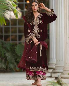 Misha Lakhani. FW 16 velvet collection. Absolutely stunning Pakistani fashion. In love !! Haiiii