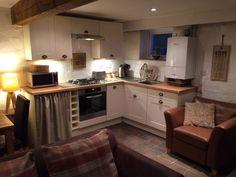 Hay Barn, Dog Friends, Kitchen Cabinets, Cottage, Home Decor, Cottages, Cabin, Interior Design, Home Interior Design