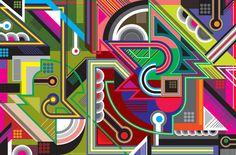 MWM Vectorfunk : Poster 1 by Matt W. Moore
