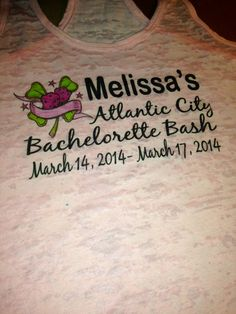 3 Personalized Bachelorette Party Burnout by WeddingApparel, $74.95