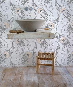 Wall Stencil | Feathered Damask Stencil | www.RoyalDesignStudio.com