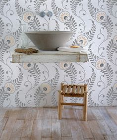 Wall Stencil | Feathered Damask Stencil | Royal Design Studio