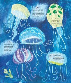 usborne...tissue paper jellyfish part 2