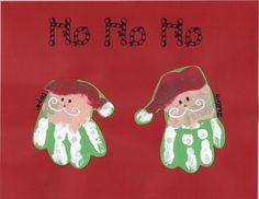 Dec. Santa handprint calendar