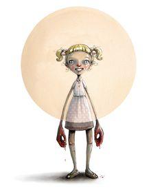 Om mobberen i DBMagasinet Lisa, Inktober, Digital Illustration, Deco, Surrealism, Norway, Illustrators, Brave, Character Design