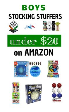 Stocking Stuffers that all boys will love! #giftsforboys #giftsforkids #stockingstuffers