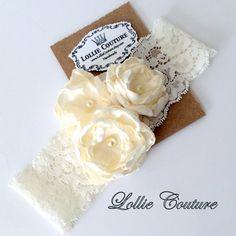 Lace Lingerie Garter Wedding Flower Garter by lolliecouture