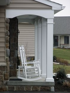 Porch remodeled by EGStoltzfus (design by Bill Patrick) #architecture #porch