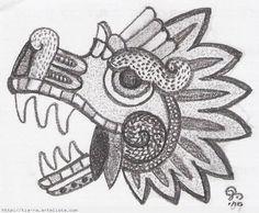 Quetzalcoatl serpiente emplumada dibujo a lapiz - Imagui