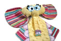 Shop for baby on Etsy, the place to express your creativity through the buying and selling of handmade and vintage goods. Baby Shower Gifts, Baby Gifts, Baby Security Blanket, Sewing Projects, Sewing Ideas, Elephant, Little Ones, Plush, Toys
